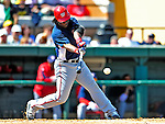 5 March 2009: Washington Nationals' outfielder Lastings Milledge in action during a Spring Training game against the Detroit Tigers at Joker Marchant Stadium in Lakeland, Florida. The Tigers defeated the visiting Nationals 10-2 in the Grapefruit League matchup. Mandatory Photo Credit: Ed Wolfstein Photo