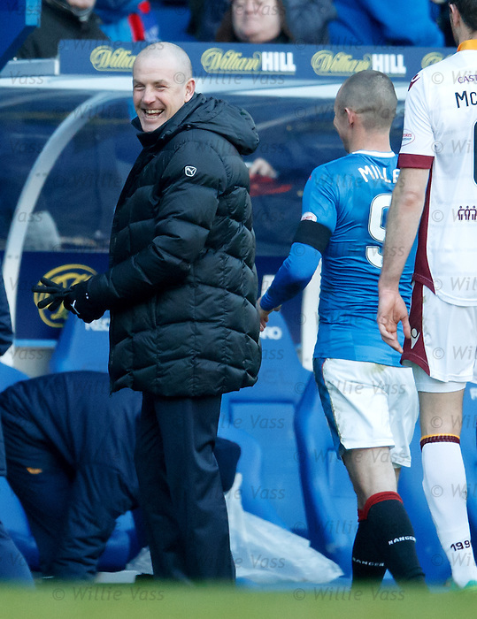 Mark Warburton and Kenny Miller at full-time