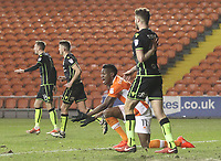 Blackpool's Armand Gnanduillet appeals for a penalty<br /> <br /> Photographer Mick Walker/CameraSport<br /> <br /> The EFL Sky Bet League One - Blackpool v Bristol Rovers - Saturday 13th January 2018 - Bloomfield Road - Blackpool<br /> <br /> World Copyright &copy; 2018 CameraSport. All rights reserved. 43 Linden Ave. Countesthorpe. Leicester. England. LE8 5PG - Tel: +44 (0) 116 277 4147 - admin@camerasport.com - www.camerasport.com