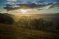 France. Haute-Savoie Department. Le Salève. Les Crêts. Sunset on Christmas day.  Sunlight and clouds. 25.12.2019 © 2019 Didier Ruef