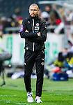 ***BETALBILD***  <br /> Solna 2015-05-31 Fotboll Allsvenskan AIK - Helsingborgs IF :  <br /> Helsingborgs tr&auml;nare manager Henrik Larsson under matchen mellan AIK och Helsingborgs IF <br /> (Foto: Kenta J&ouml;nsson) Nyckelord:  AIK Gnaget Friends Arena Allsvenskan Helsingborg HIF portr&auml;tt portrait tr&auml;nare manager coach Henke