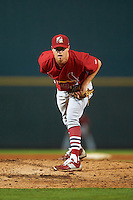 Palm Beach Cardinals relief pitcher Blake McKnight (15) during a game against the Bradenton Marauders on August 9, 2016 at McKechnie Field in Bradenton, Florida.  Bradenton defeated Palm Beach 8-7.  (Mike Janes/Four Seam Images)