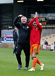 Chris Wilder manager of Sheffield Utd celebrates with Billy Sharp of Sheffield Utd during the English League One match at Vale Park Stadium, Port Vale. Picture date: April 14th 2017. Pic credit should read: Simon Bellis/Sportimage