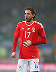 Joe Allen of Wales during the international friendly match at the Cardiff City Stadium. Photo credit should read: Philip Oldham/Sportimage