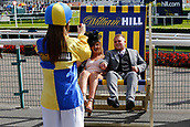 14th September 2017, Doncaster Racecourse, Doncaster, England; The William Hill St Ledger Festival, DFS Ladies Day; A Couple having portraits and enjoying themself before the racing starts