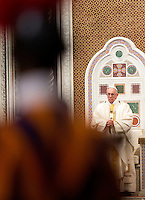 Papa Francesco celebra la messa di chiusura del Giubileo per gli 800 anni della conferma dell'Ordine dei Frati Predicatori, nella Basilica di San Giovanni in Laterano, 21 gennaio 2016.<br /> Pope Francis celebrates a Mass to mark the closing of the Jubilee year for the 800th anniversary of the foundation of the Dominican Order in Saint John Lateran Basilica in Rome, 21 January 2016.<br /> UPDATE IMAGES PRESS/Riccardo De Luca<br /> <br /> STRICTLY ONLY FOR EDITORIAL USE