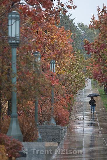 Trent Nelson  |  The Salt Lake Tribune.Rain and snow fell in downtown Salt Lake City, UT on Tuesday, November 1, 2011.