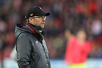 Liverpool manager Jurgen Klopp watches on during the pre-match warm-up <br /> <br /> Photographer Rich Linley/CameraSport<br /> <br /> UEFA Champions League Semi-Final 2nd Leg - Liverpool v Barcelona - Tuesday May 7th 2019 - Anfield - Liverpool<br />  <br /> World Copyright &copy; 2018 CameraSport. All rights reserved. 43 Linden Ave. Countesthorpe. Leicester. England. LE8 5PG - Tel: +44 (0) 116 277 4147 - admin@camerasport.com - www.camerasport.com