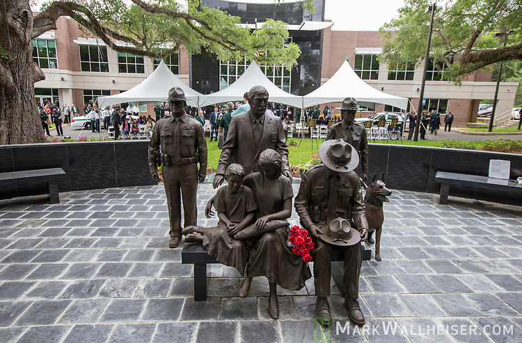 The memorial at the Florida Sheriffs Association during the 2017 Law Enforcement Memorial Ceremony at the Florida Sheriffs Association in Tallahassee, Florida.