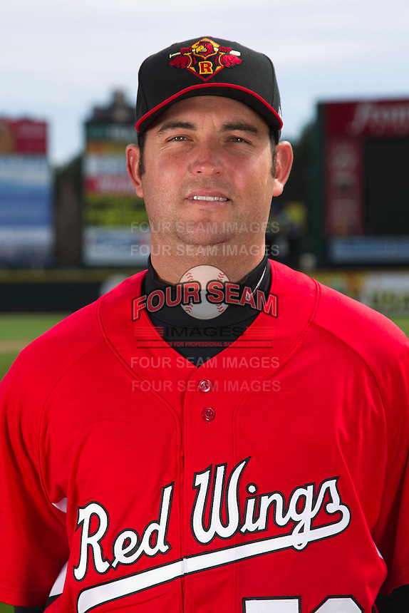 Rochester Red Wings pitcher Brendan Wise #50 poses for a photo during media day at Frontier Field on April 3, 2012 in Rochester, New York.  (Mike Janes/Four Seam Images)