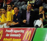 Nuggets coaches Alf Arlidge (right) and Gavin Briggs. NBL  - Manawatu Jets  v Otago Nuggets at Arena Manawatu, Palmerston North, New Zealand on Sunday 5 June 2011. Photo: Dave Lintott / lintottphoto.co.nz