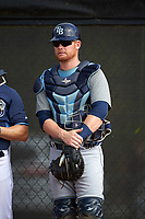 Tampa Bay Rays Sean Smedley (79) during a minor league Spring Training intrasquad game on April 1, 2016 at Charlotte Sports Park in Port Charlotte, Florida.  (Mike Janes/Four Seam Images)