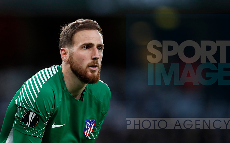 Atletico's Jan Oblak in action during the Europa League Semi Final 1st Leg, match at the Emirates Stadium, London. Picture date: 26th April 2018. Picture credit should read: David Klein/Sportimage