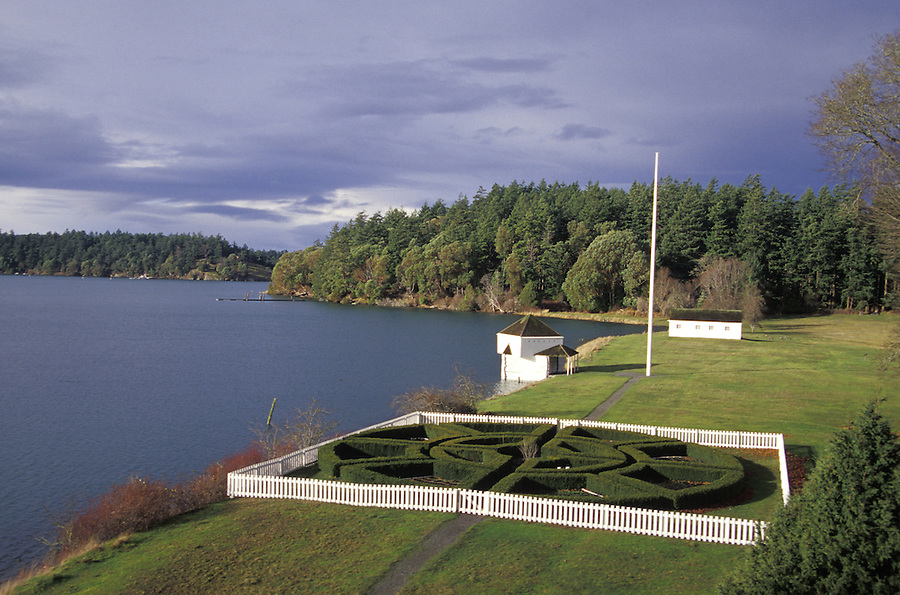 English Camp gardens and blockhouse, San Juan Island, Washington