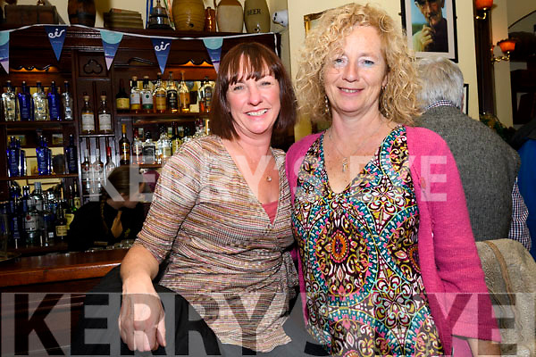 Elaine Begley (Ballydavid) and Helen Forde (Carrig) enjoying Other Voices at Benners, Dingle, on Saturday night.