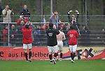Sandhausen 19.04.2008, Die Spieler von Ingolstadt feiern den Sieg mit den Fans in der Regionalliga S&uuml;d 2007/08 SV Sandhausen 1916 - FC Ingolstadt 04<br /> <br /> Foto &copy; Rhein-Neckar-Picture *** Foto ist honorarpflichtig! *** Auf Anfrage in h&ouml;herer Qualit&auml;t/Aufl&ouml;sung. Belegexemplar erbeten.