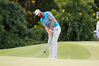 Dustin Johnson (USA) putts on the 17th hole during the third round of the 100th PGA Championship at Bellerive Country Club, St. Louis, Missouri, USA. 8/11/2018.<br /> Picture: Golffile.ie | Brian Spurlock<br /> <br /> All photo usage must carry mandatory copyright credit (&copy; Golffile | Brian Spurlock)