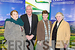 DEVELOPMENT: Pat Spillane chairman for the economic development of rural areas at the public meeting at the IT Tralee on Monday l-r: Sheila Crowley, Beaufort, Pat Spillane, Eileen Moynihan, Killarney and Joan Collins, Aghadoe.