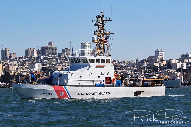 USCG patrol boat Sockeye Patrols San Francisco Bay during 2017 Fleetweek activities