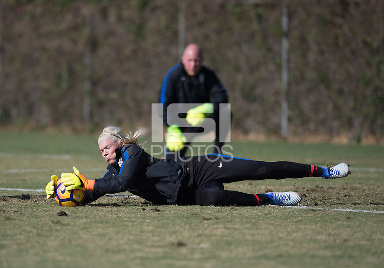 Carson, CA - January 14, 2017: The USWNT held fitness testing and training at  StubHub Center during January Camp.