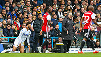 Leeds United manager Marcelo Bielsa shouts at referee Jeremy Simpson after Tyler Roberts appeared to be fouled<br /> <br /> Photographer Alex Dodd/CameraSport<br /> <br /> The EFL Sky Bet Championship - Leeds United v Brentford - Saturday 6th October 2018 - Elland Road - Leeds<br /> <br /> World Copyright &copy; 2018 CameraSport. All rights reserved. 43 Linden Ave. Countesthorpe. Leicester. England. LE8 5PG - Tel: +44 (0) 116 277 4147 - admin@camerasport.com - www.camerasport.com