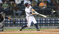 9 April 2008: Van Pope (8) of the Mississippi Braves hits a double during the Braves' home opener against the Mobile BayBears at Trustmark Park in Pearl, Miss. Photo by:  Tom Priddy/Four Seam Images