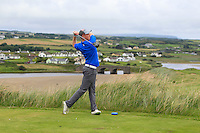Eanna Griffin (Waterford) on the 9th tee during Matchplay Round 1 of the South of Ireland Amateur Open Championship at LaHinch Golf Club on Friday 22nd July 2016.<br /> Picture:  Golffile | Thos Caffrey<br /> <br /> All photos usage must carry mandatory copyright credit   (© Golffile | Thos Caffrey)