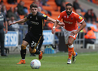 Bradford City's Connor Wood and Blackpool's Liam Feeney<br /> <br /> Photographer Rachel Holborn/CameraSport<br /> <br /> The EFL Sky Bet League One - Blackpool v Bradford City - Saturday September 8th 2018 - Bloomfield Road - Blackpool<br /> <br /> World Copyright &copy; 2018 CameraSport. All rights reserved. 43 Linden Ave. Countesthorpe. Leicester. England. LE8 5PG - Tel: +44 (0) 116 277 4147 - admin@camerasport.com - www.camerasport.com