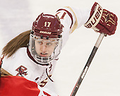 Meghan Grieves (BC - 17) -  The Boston College Eagles defeated the visiting Boston University Terriers 5-0 on BC's senior night on Thursday, February 19, 2015, at Kelley Rink in Conte Forum in Chestnut Hill, Massachusetts.