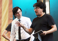 NEW YORK, NY-July 23:  Joon-ho Bong, Paul Dano shooting on location for Netflix & Plan B Enterainment  film Okja in New York. NY July 23, 2016. Credit:RW/MediaPunch