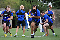 Kane Palma-Newport of Bath Rugby in action. Bath Rugby training session on August 4, 2015 at Farleigh House in Bath, England. Photo by: Patrick Khachfe / Onside Images