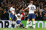 Tottenham's Moussa Sissoko (C) celebrates after he scores to make it 3-0 during the Premier League match at the Tottenham Hotspur Stadium, London. Picture date: 30th November 2019. Picture credit should read: Paul Terry/Sportimage