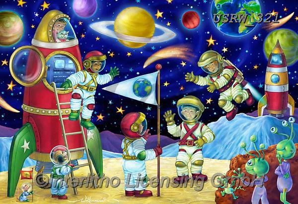 Randy,KINDER,CHILDREN, paintings+++++Moon-Meeting-Wollenmann-sm,USRW321,#ac#, EVERYDAY