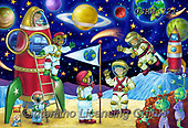 Randy,KINDER,CHILDREN, paintings+++++Moon-Meeting-Wollenmann-sm,USRW321,#ac#, EVERYDAY