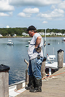 Lobster fishermen on the pier at Cape Porpoise, Kennebunkport, ME. Images are available for editorial licensing, either directly or through Gallery Stock. Some images are available for commercial licensing. Please contact lisa@lisacorsonphotography.com for more information.
