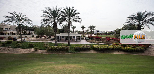 Pit-stop at the rear of the 5th at The Address Montgomerie Golf Club, Dubai, United Arab Emirates.  27/01/2016. Picture: Golffile | David Lloyd<br /> <br /> All photos usage must carry mandatory copyright credit (&copy; Golffile | David Lloyd)
