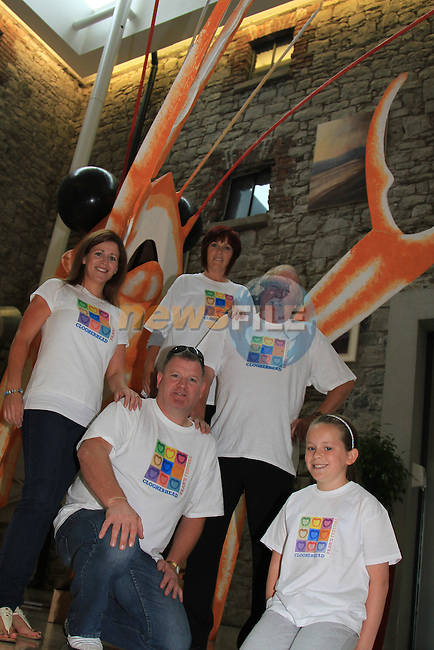 Clogherhead Prawn festival Committee memberw wearing there new t-shirts.Picture Fran Caffrey/www.newsfile.ie