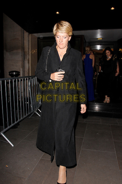 LONDON, ENGLAND - MARCH 18 : Clare Balding leaves the RTS Programme Awards 2014 at Grosvenor House on March 18, 2014 in London, England.<br /> CAP/AH<br /> &copy;Adam Houghton/Capital Pictures