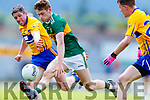 Gavin White Kerry in action against Gordon Kelly Clare during the Munster GAA Football Senior Championship semi-final match between Kerry and Clare at Fitzgerald Stadium in Killarney on Sunday.