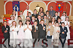 Pupils from Caherleheen National school who recieved their First Holy Communion last Saturaday in the Immaculate Conception Church Rathass Tralee with their shlool principal Donal O Connor,teacher Gerldine Mc Garrigle and Fr Padraig Kennelly.   Copyright Kerry's Eye 2008