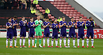 Sheffield Utd players take part in a minutes applause in memory of Ray Wilkins during the championship match at the Oakwell Stadium, Barnsley. Picture date 7th April 2018. Picture credit should read: Simon Bellis/Sportimage