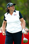 CHON BURI, THAILAND - FEBRUARY 17:  Pat Hurst of USA tees off  on the 15th hole during day two of the LPGA Thailand at Siam Country Club on February 17, 2012 in Chon Buri, Thailand.  Photo by Victor Fraile / The Power of Sport Images