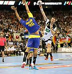 12.01.2019, Mercedes Benz Arena, Berlin, GER, Germany vs. Brazil, im Bild Martin Strobel (GER #19), Thiago Ponciano (BRA #35)<br /> <br />      <br /> Foto &copy; nordphoto / Engler