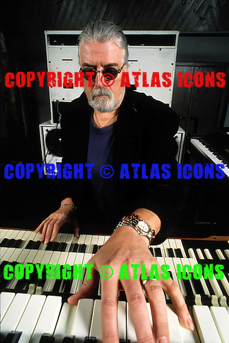 Deep Purple - keyboard player Jon Lord - photogrpahed exclusively at Hook End Studios, Berkshire UK - 03 Feb 1996. .Photo credit:<br />