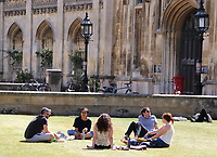 People relaxing in the warm summer weather around the River Cam and in the city centre. Cambridge, UK on July 30th 2020<br /> <br /> Photo by Keith Mayhew