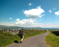 Hikers enjoy a stroll around the byeways near Ventry in County Kerry, ireland.<br /> Photo: Don MacMonagle <br /> e: info@macmonagle.com