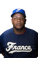 18 September 2012: Miguel Hanson poses prior to Team France practice, at the 2012 World Baseball Classic Qualifier round, in Jupiter, Florida, USA.