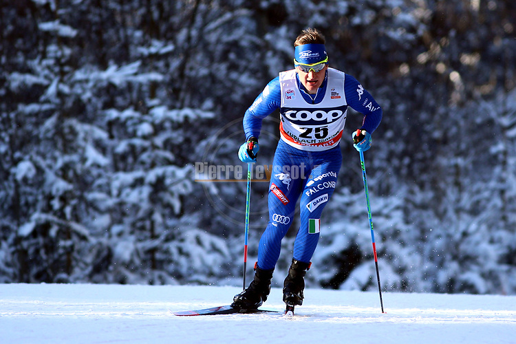 Cross Country Ski World Cup 2018 FIS in Dobbiaco, Toblach, on December 16, 2017; Men 15 Km Interval Start Free technique ; Giandomenico Salvadori<br /> &copy; Pierre Teyssot / Pentaphoto