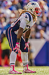 12 October 2014: New England Patriots running back Brandon Bolden in action against the Buffalo Bills at Ralph Wilson Stadium in Orchard Park, NY. The Patriots defeated the Bills 37-22 to move into first place in the AFC Eastern Division. Mandatory Credit: Ed Wolfstein Photo *** RAW (NEF) Image File Available ***