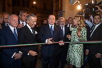 Silvio Berlusconi<br /> Roma 30-09-2014 Palazzo Venezia. Biennale Internazionale di Antiquariato di Roma.<br /> Photo Samantha Zucchi Insidefoto